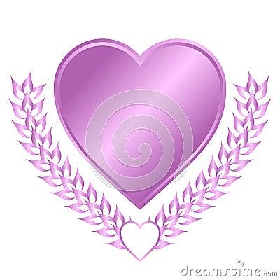 Lavender Heart Crest