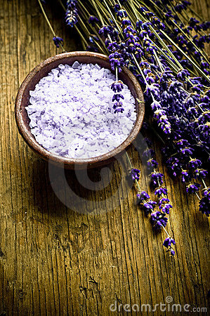 Lavender herb and salt