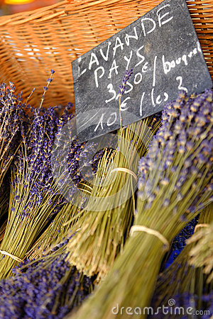 Free Lavender In Market In Gordes Provence Royalty Free Stock Image - 42363856