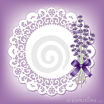 Lavender & Lace Round Doily