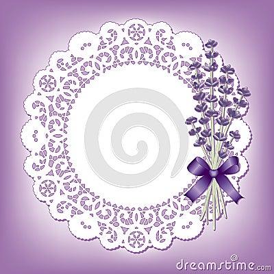 Lavender & Lace Round Doily