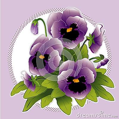Free Lavender Pansies Stock Photo - 4302000