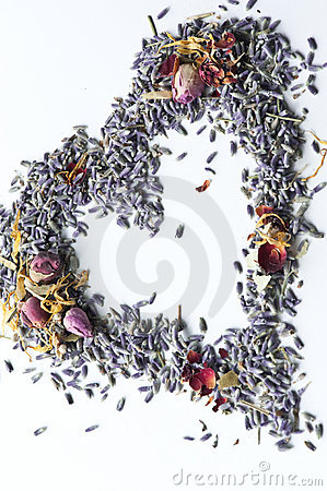Free Lavender Potpourri Heart Royalty Free Stock Image - 9129806