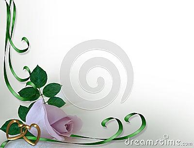 Lavender Rose Bud Corner Design