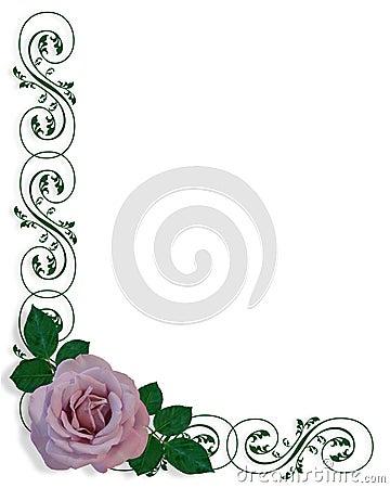 Lavender Rose Corner Design
