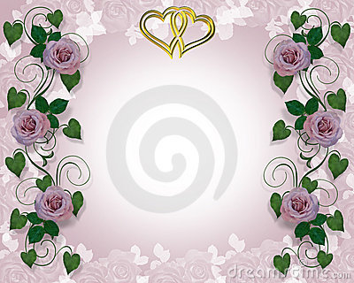 Lavender Rose Wedding Invitation
