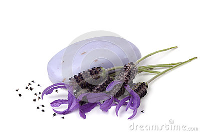 Lavender Soap and Flowers