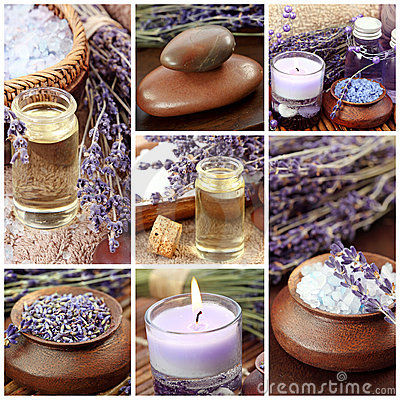 Free Lavender Spa Collage Stock Image - 15650391