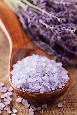 Lavender spa with sea salt