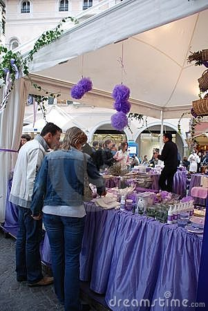 Lavender Stall at Friuli Doc Editorial Photo