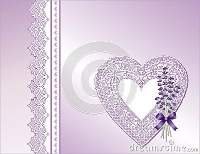 Lavender & Violet Lace Heart Present