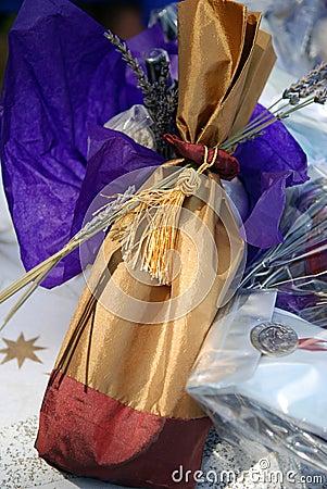 Lavender wine pouch