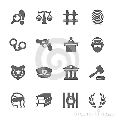 Free Law And Justice Icons Stock Photo - 35057250
