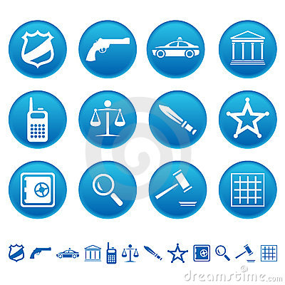 Free Law And Order Icons Royalty Free Stock Photos - 19424988