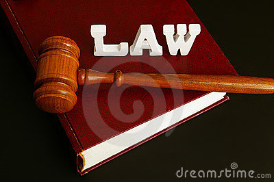 Law book,and gavel