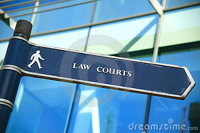 Law courts direction sign