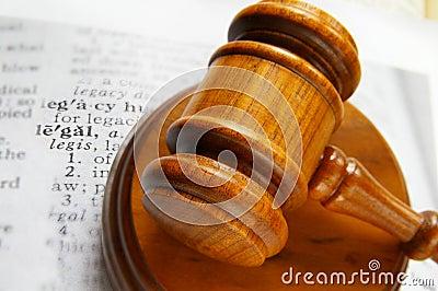 law gavel on legal work