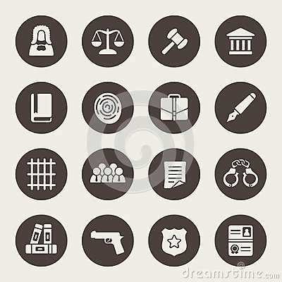 Free Law Icon Set Royalty Free Stock Image - 46213876
