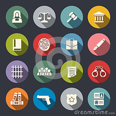 Free Law Icon Set Royalty Free Stock Image - 46213916