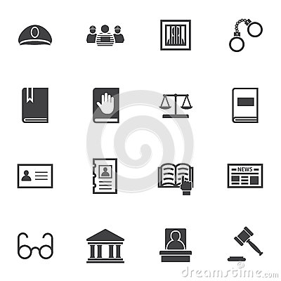 Free Law Icon Set Stock Images - 62187884