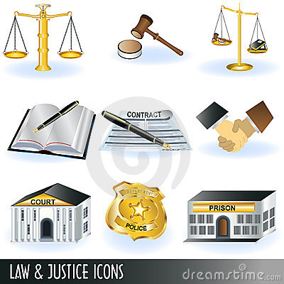 Law and justice icons