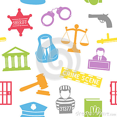 Law & Order Seamless Pattern