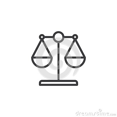 Free Law Scale Outline Icon Stock Photography - 111914082
