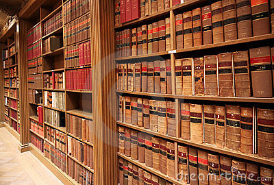 Law school library Editorial Stock Image