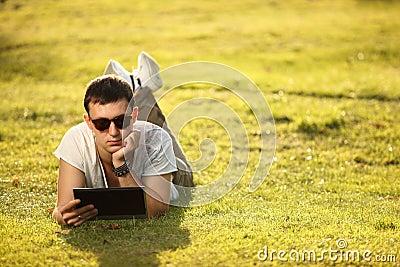 On lawn