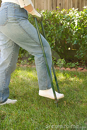 Free Lawn Aerating Stock Photo - 4556600