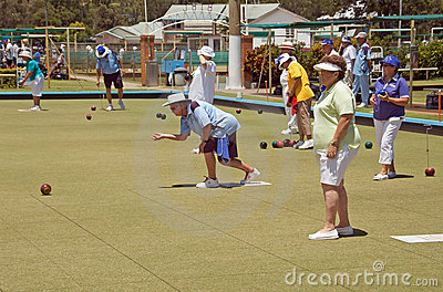 Lawn Bowls Club Editorial Photography