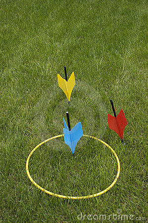 Free Lawn Darts, Popular Family And Party Jarts Game Stock Photos - 14715613