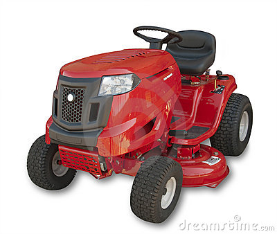 Lawn mower, isolated