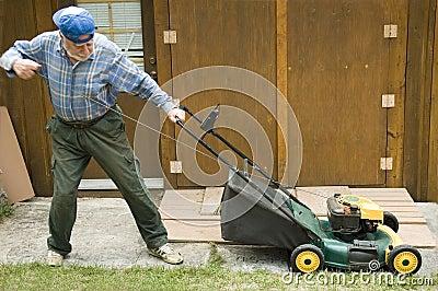 Lawn mower starting