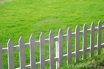 Lawn and railing
