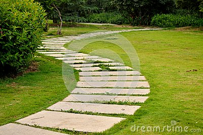 Lawns and paths
