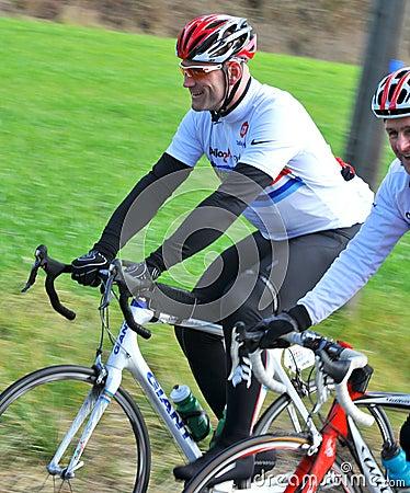 Lawrence Dallaglio in the Dallaglio Cycle Slam Editorial Stock Photo