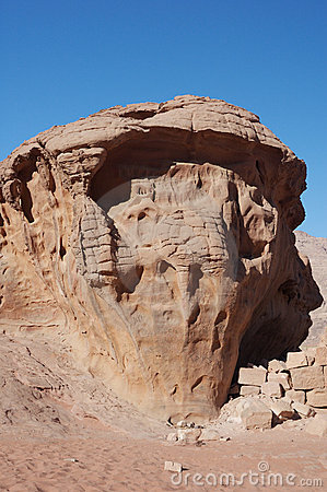 Free Lawrence House In Wadi Rum  Stock Images - 4380354
