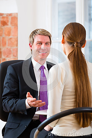 Lawyer with Customer