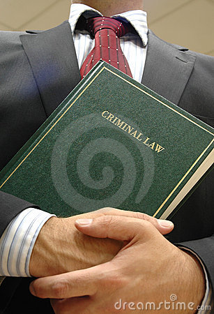 Lawyer holding book