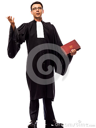Free Lawyer Man Pleading Royalty Free Stock Photo - 25225145