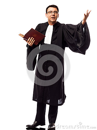 Free Lawyer Man Pleading Royalty Free Stock Photo - 36906265