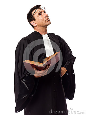 Lawyer man thinking portrait