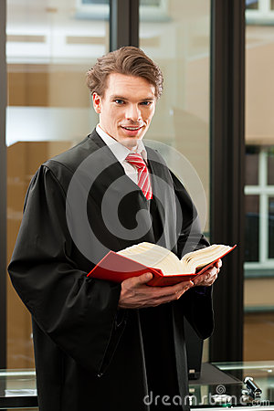 Free Lawyer With Civil Law Code Royalty Free Stock Photography - 27225167