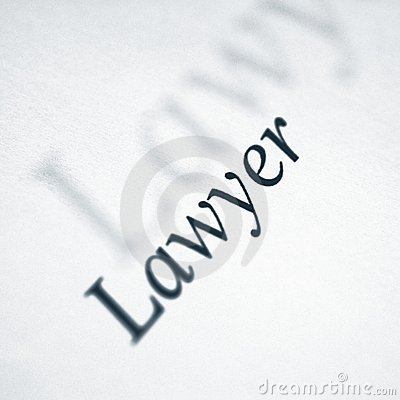 Lawyer Word On A White Paper