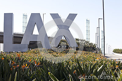 LAX Airport Editorial Stock Image
