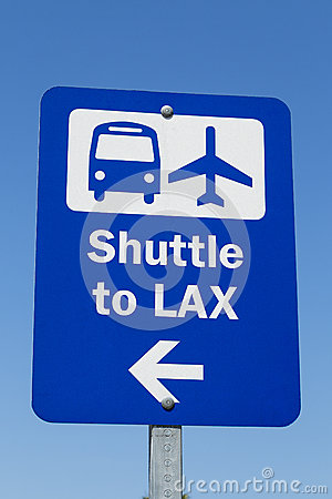 Free LAX Shuttle Sign Royalty Free Stock Photos - 40683898