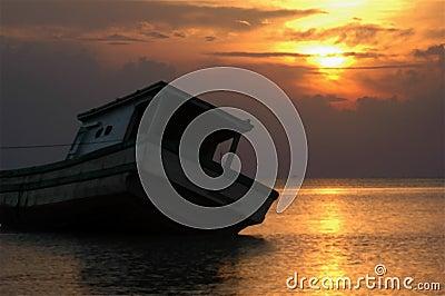 Lay on sunset