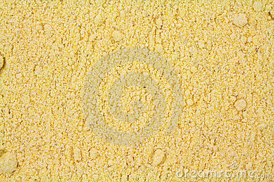 Layer of stone ground yellow corn meal