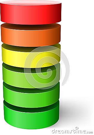 Free Layered Cylinder. Stock Photo - 19468840